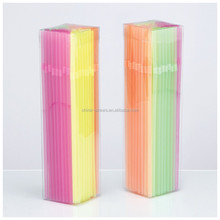 Plastic Tube Plastic Drinking Straw with box packed