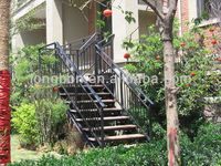 Top-selling hand forging outdoor garden cast iron handrail