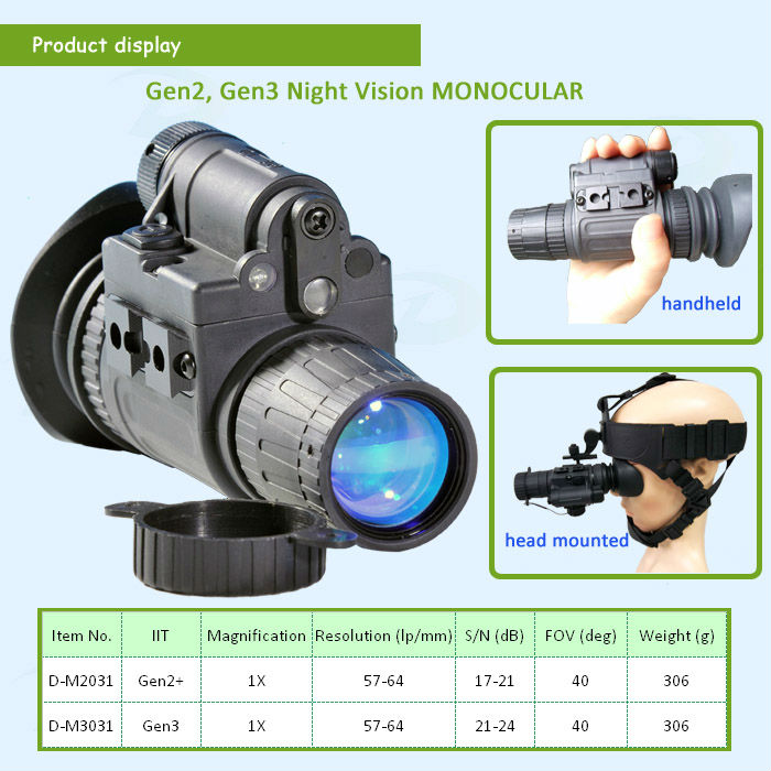 Top seller Gen2+/Gen3 multipurpose night vision monocular D-D2031