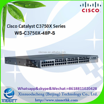 Hot sale Original Cisco Catalyst 3750X Series WS-C3750X-48P-S Layer 3- 48 Gigabit Ethernet PoE+ Ports - IP Base - Managed Switch