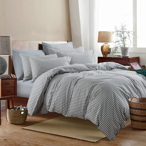 yarn dyed chequer Egyptian Cotton mr price zara coming home bedding