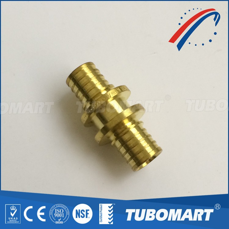 CW617N equal union coupling of sliding brass fitting for pex pipe with evoh