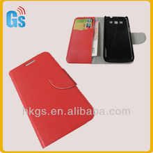 High Quality Stand Function PU Leather Flip Case For Samsung I8552 Galaxy Win With Free Protective Flim
