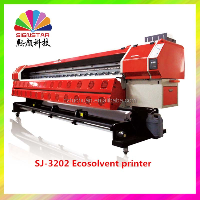 Best selling 3.2m indoor outdoor SJ3202 ecosolvent printing machine