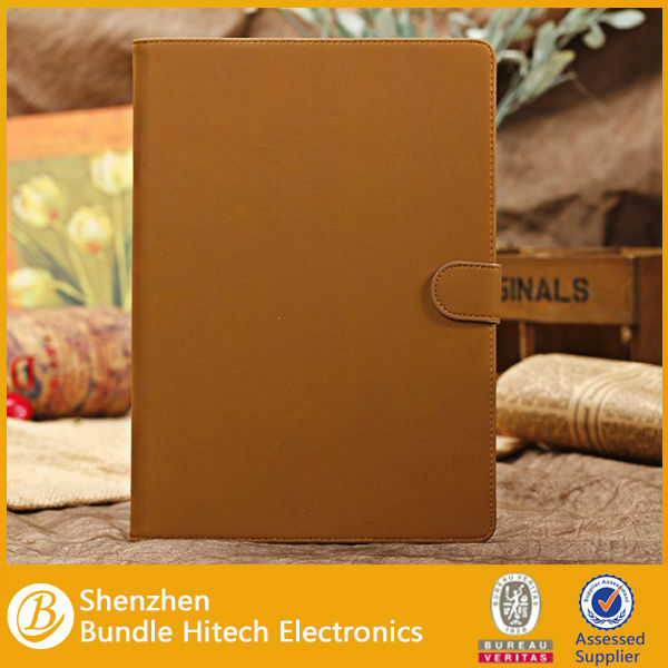 Folio leather cover for ipad air. light weight slim laptop cases