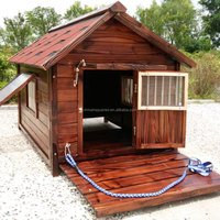 ZPDK1008XL Luxury Double Metal Wooden Kennel Large Dog House Runs For Sale