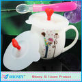 Food Grade Hot Sell Lovely Fashion Customized Silicone cup lid bowl cover