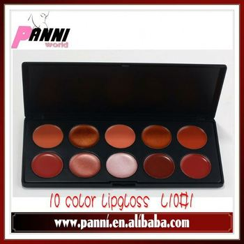 New 10 Color Lipstick Lip Gloss Cosmetic Makeup Palette##L10#1