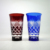 Hot 350ml Wholesale Blue Red Colored Engraved Glass Tumbler Tea Cup
