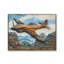 Metallic Vintage Wall Art Aircraft Painting