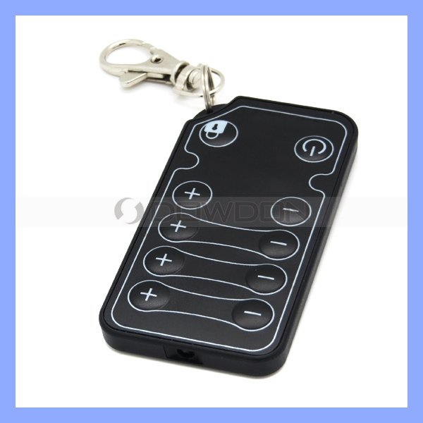Ultra-thin 10 Keys ABS Keychain Custom Code IR Wireless Remote Control Switch For Car Audio DVD GPS DVR