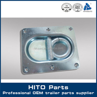 Cargo Trailer Recessed D Ring Plate Rope Lashing Tie Down