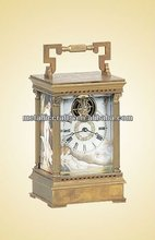 Cast Brass Antique French Carriage Clock
