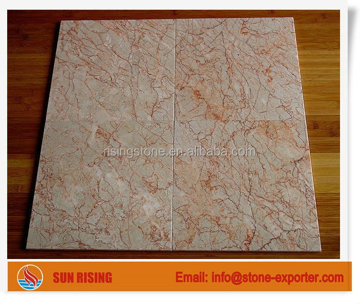 Red line Cream marble Tile