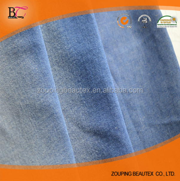 98% cotton 2% spandex stretch indigo twill denim fabric