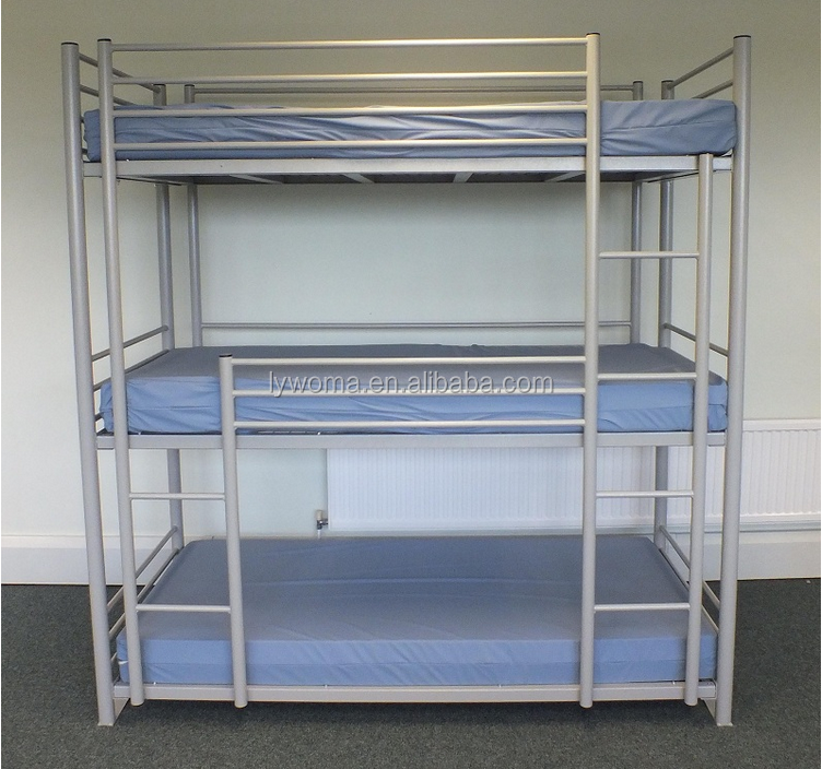 Modern triple bunk bed cheap bunk beds hot sale metal for Cheap bunk beds for sale