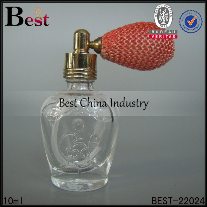 alibaba china cosmetic fragrance perfume gasbag 10ml glass bottle gold metal cap wholesale