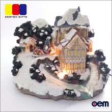 Beautiful Resin Decoration Crafts Led Christmas Miniature Houses For sale
