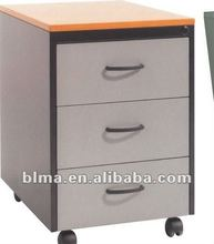 Three drawers colorful wooden File Cabinet for office furniture