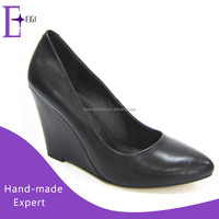 wholesale ladies wedge office shoes made in china/women slip on dress shoes