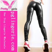 Hot Design woman new shion back lace up Tights Trousers