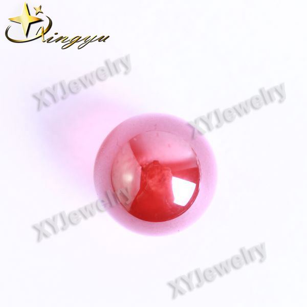 Red Cubic Zirconia Ball Garnet Stones Top Drill Beads Payment Asia