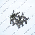 Wholesale Black and white plastic nylon butterfly wing screw with high quality