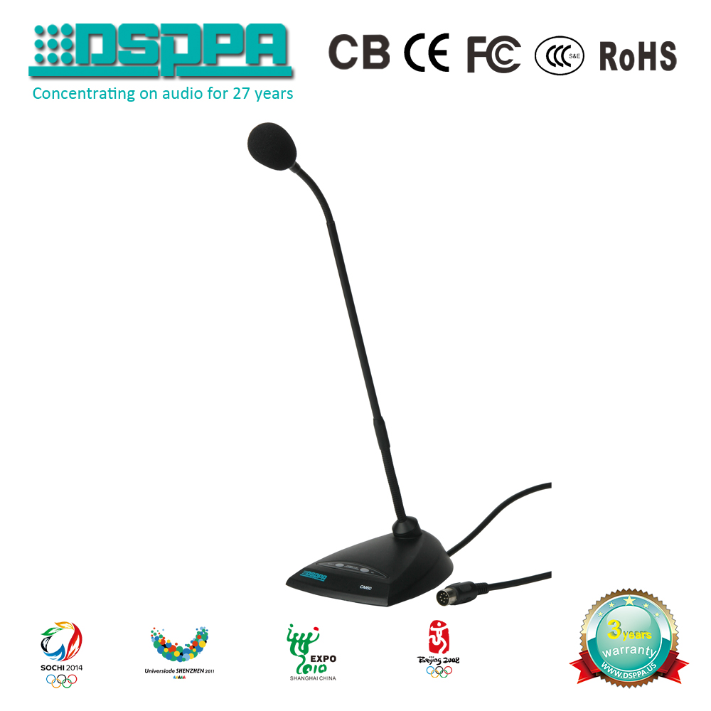 DSPPA CM60 Microphone System Chairman Unit Conference Room Public Address goose neck microphone