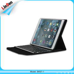 Hot Sell PU Leather Bluetooth Keyboard Case For iPad pro 9.7 inch keyboard with case for Apple iPad
