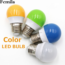 Yellow Bulb 1W Bulb Energy Saving LED Lamp Color Suitable for Decoration AC 220-240V