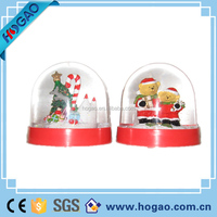 table decoration plastic dolphin snow globe