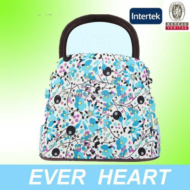 2016 flower pattern fashion women mummy babay handbags for picnic travel
