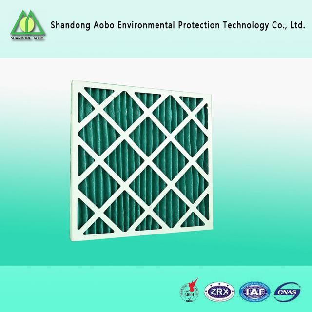 Paper frame panel air filter hvac