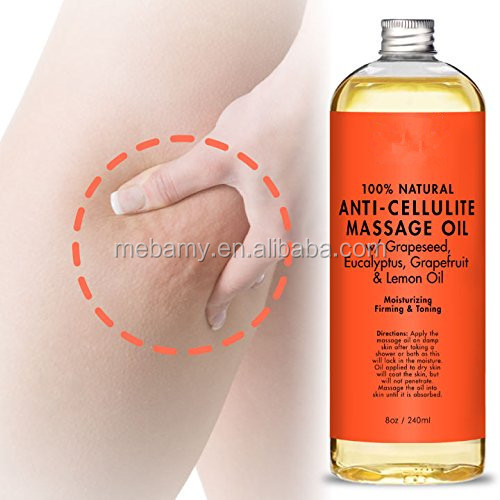100 % Pure Nature Grapeseed Anti Cellulite Body Massage Oil For Women