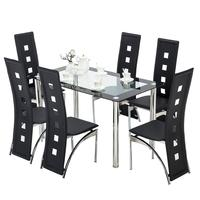 free sample modern furniture stainless steel dining table set creative restaurant group 6/8/10/12 seaterglass dining table