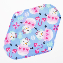 The menstrual sanitary pads girls period reusable& washable bamboo fiber printed christmas snowman pattern napkin