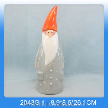 New christmas ornaments,wholesale ceramic christmas figurine for gifts
