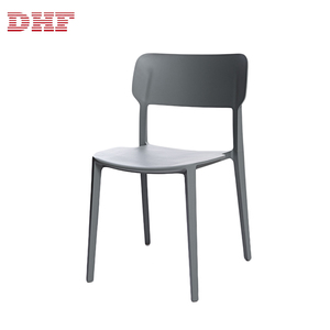 DHF Armless Cheap 2019 Modern Plastic Dining Chairs No Arm