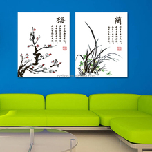 Chinese art work handpainted digital oil painting for decoration