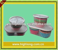 plastic box packing cake cup, clear cylinder packing baking cup.