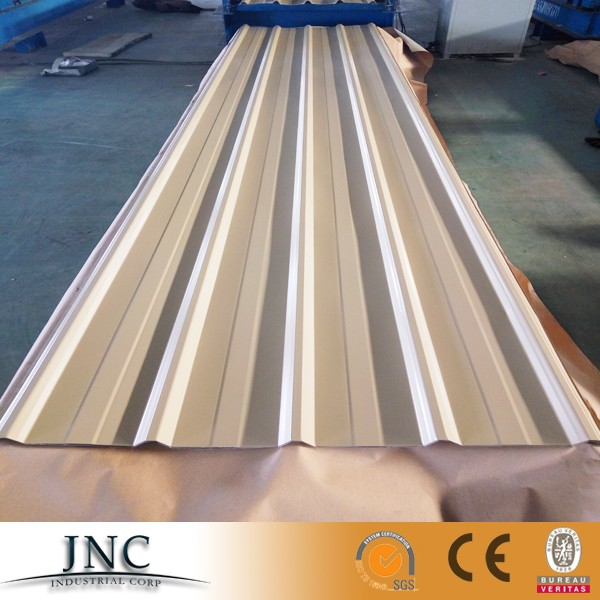 YX 25-200-1000 Color coated galvanized steel roofing sheet/trapezoid metal roofing tiles