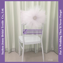 C315D cheap universal wedding chair covers ivory tutu chair cover factory
