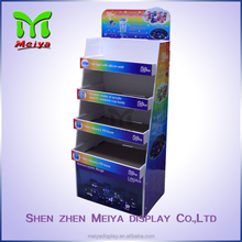 Pop up cardboard floor display stand for drink cup, Customized cardboard Display stands