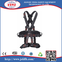 High strength polyester material full body harness