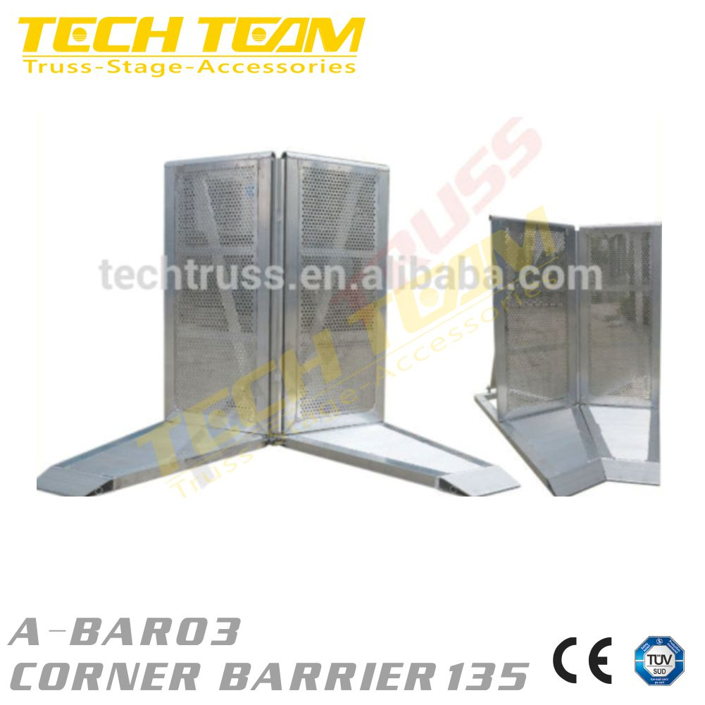 Aluminium Folding Crowd Corner Barrier ,Crowd Control Queue Barriers