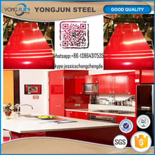 color coated aluminum coil sheet price for ral3020 kitchen cabinet decoration material used