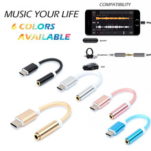 2018 USB Type C to 3.5mm Adapter Cable Headphone Earphone Jack AUX Type-C Convertor Cabel for Letv Leeco Le Max 2 Pro 3/Max2/S3