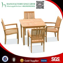 Patio dining table set burma teak wood furniture