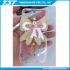 1.2mm transparent tpu cellphone case with beautiful lace cloth flower for iphone6