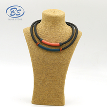 MBN097 new design modern layer fashion jewellery choker necklace magnet silicone jewelry